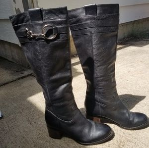 Leather Audrie Black Riding Boots